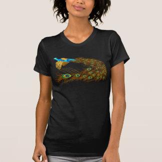 Camisetas del pavo real del vuelo