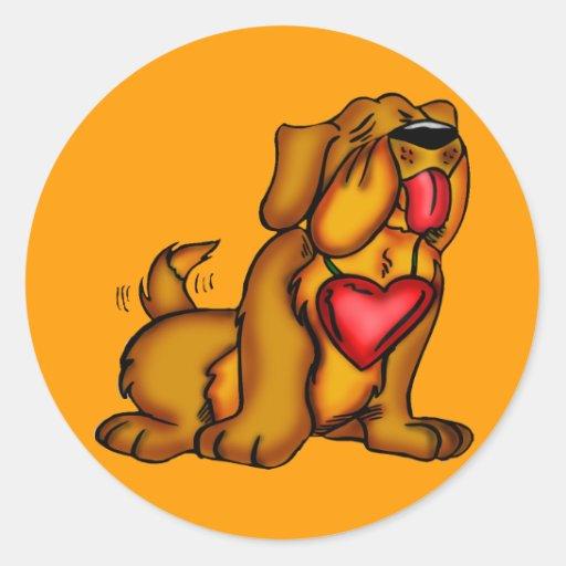 Camisetas del perro de caza de los niños y regalos pegatinas redondas