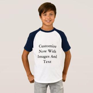 Camisetas del raglán - muchacho corto de la manga