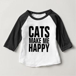 Camisetas divertidas del CAT para los niños, los