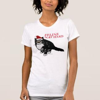 Camisetas divertidas del gato del navidad, Navidad