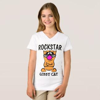 Camisetas divertidas del gato, niños ROCKSTAR,