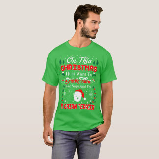 Camisetas feas del navidad de Terrier de mojón del