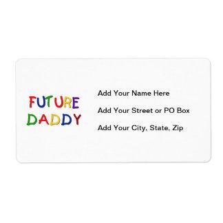 Camisetas futuras y regalos de los colores etiqueta de envío