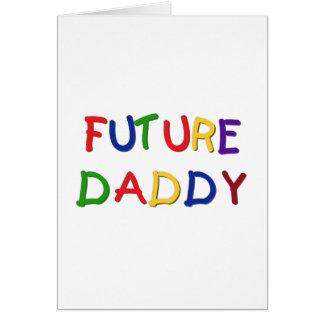 Camisetas futuras y regalos de los colores primari tarjeton