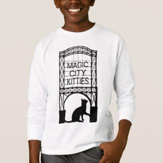 Camisetas largas de la manga de la ciudad de los