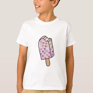 Camisetas lindo del Popsicle del corazón,