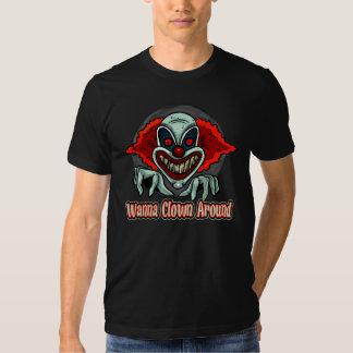 Camisetas malvadas del monstruo del payaso
