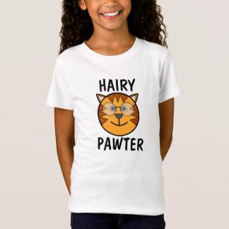 Camisetas melenudas del gato de Pawter, para los