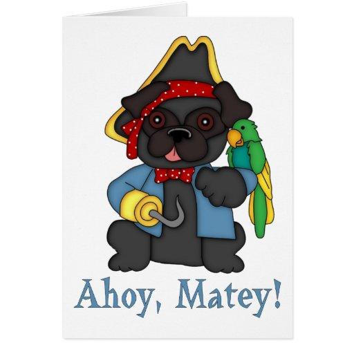 Camisetas negras adorables del traje del pirata de felicitacion