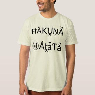Camisetas negras de los regalos de Hakuna Matata