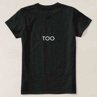 camisetas negro de la materia de las vidas