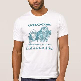 Camisetas occidentales del banquete de boda del