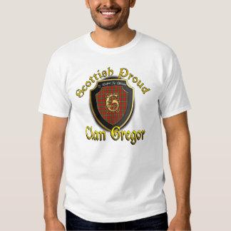 Camisetas orgulloso escocés de Gregor del clan