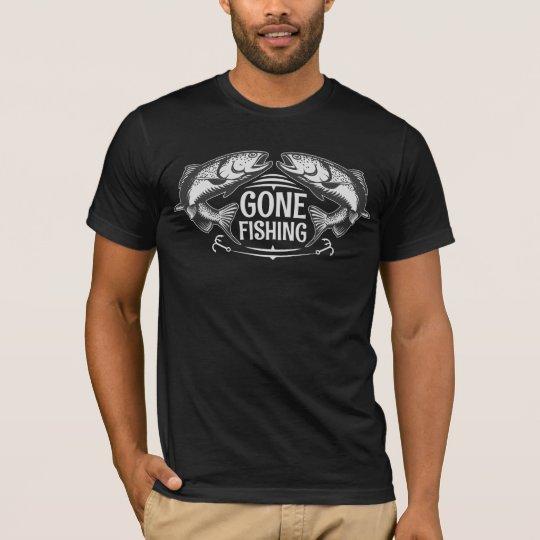 Camisetas para hombre negras de la pesca