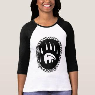 Camisetas para mujer de la garra de oso del jersey