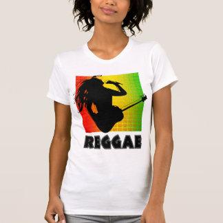 Camisetas para mujer de la guitarra de Rasta