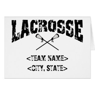 Camisetas personalizadas de LaCrosse del estado de Tarjeta De Felicitación