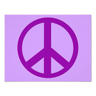 Camisetas púrpuras del signo de la paz, sudaderas comunicado