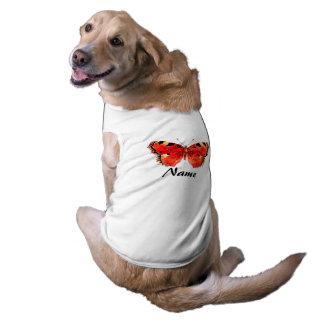 Camisetas sin mangas acanaladas de la mariposa del