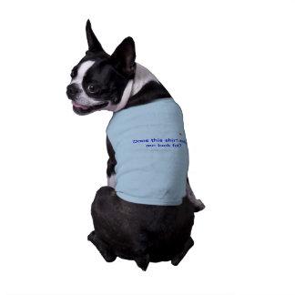 Camisetas sin mangas acanaladas del perrito con de