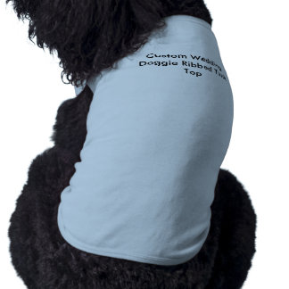 Camisetas sin mangas acanaladas del perrito de camiseta sin mangas para perro