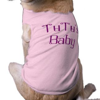 Camisetas sin mangas acanaladas del perrito del camiseta sin mangas para perro