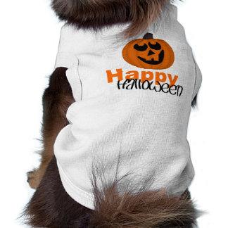 Camisetas sin mangas acanaladas del perrito del fe