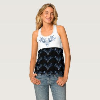 Camisetas sin mangas azules geométricas del