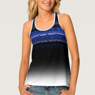 Camisetas sin mangas azules lindas únicas del