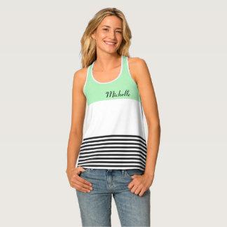 Camisetas sin mangas cones monograma de la verde