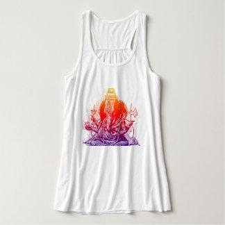 Camisetas sin mangas de Ganesha Flowy Racerback de