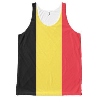 Camisetas sin mangas de la bandera de Bélgica