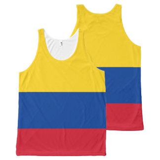 Camisetas sin mangas de la bandera de Colombia