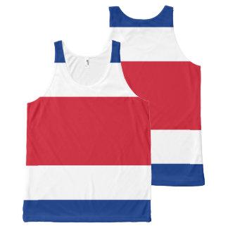 Camisetas sin mangas de la bandera de Costa Rica