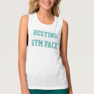 """Camisetas sin mangas """"de la cara de reclinación"""