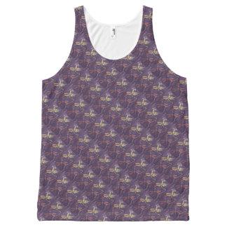 camisetas sin mangas de la libélula camiseta de tirantes con estampado integral