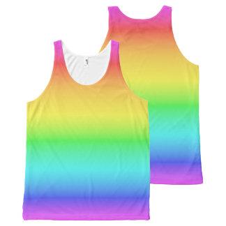 Camisetas sin mangas de la pendiente del arco iris