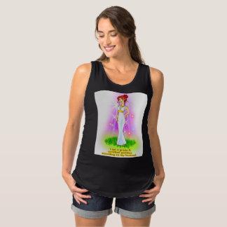 Camisetas sin mangas de maternidad de la diosa