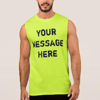 Camisetas sin mangas de neón del personalizar para