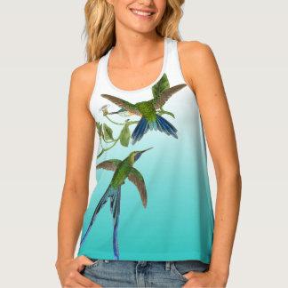 Camisetas sin mangas de Ombre de las flores de los