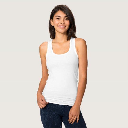 Camiseta de mujer de espalda cruzada estrecha, Blanco