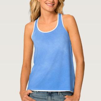 Camisetas sin mangas del azul de cielo