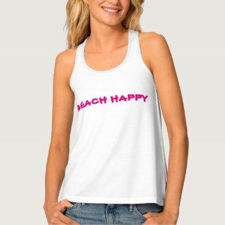 """Camisetas sin mangas del """"BEACHHAPPY"""" Racerback de"""