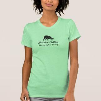 Camisetas sin mangas del border collie por LN