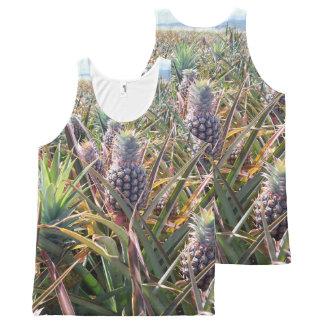Camisetas sin mangas del campo de la piña
