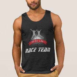 Camisetas sin mangas del equipo de la raza