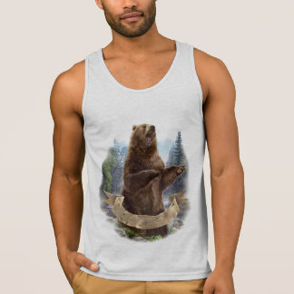 Camisetas sin mangas del oso grizzly