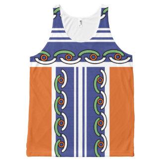 Camiseta De Tirantes Con Estampado Integral CAMISETAS SIN MANGAS del ROLLO del VERANO, arte y
