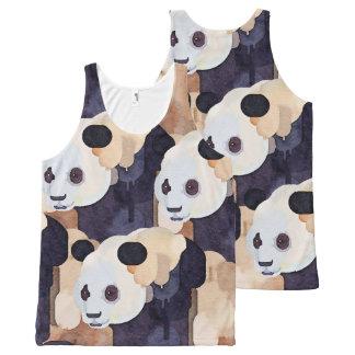 Camisetas sin mangas del verano: Panda del helado